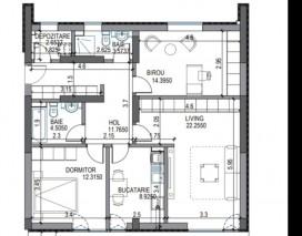 Apartament de vanzare 3 camere zona Pipera 96mp