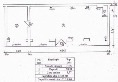 Spatiu comercial de vanzare zona Pantelimon, Bucuresti 103.25 mp