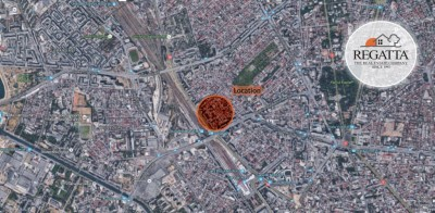 Land plot with building permit Nicolae Titulescu - Basarab Subway area, Bucharest, 1,718 sqm