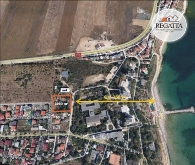 Land plot with residential project for sale Eforie Nord, Constanta, 3,000 sqm
