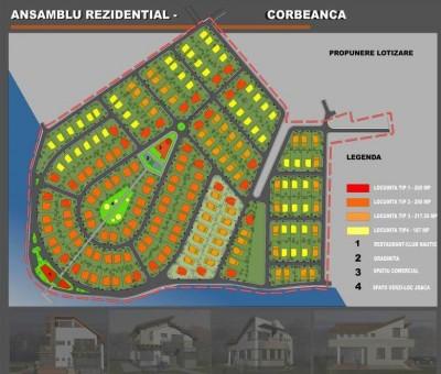 Teren de vanzare cu proiect rezidential Corbeanca, Ilfov, 138.249 mp