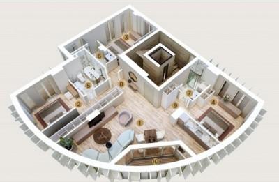 Apartament de vanzare 4 camere zona Charles de Gaulle/Primaverii 135 mp