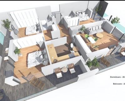 Apartament de vanzare 4 camere zona Pipera 137 mp