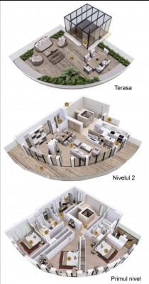 Penthouse de vanzare 5 camere zona Charles de Gaulle/Primaverii 354 mp