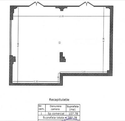 Spatiu comercial de inchiriat zona Aviatiei - Serbanescu, Bucuresti 107.78 mp