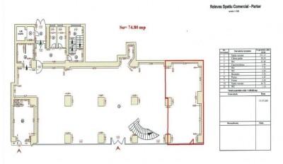Spatiu comercial de inchiriat zona Calea Dorobanti, Bucuresti 74.80 mp