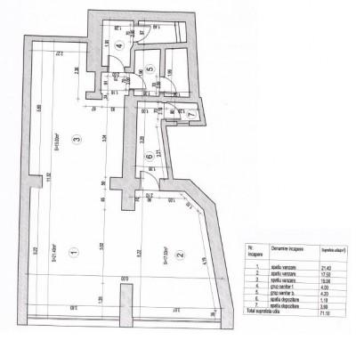 Spatiu comercial de vanzare zona Centrul vechi, Bucuresti 71.1 mp