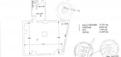 Spatiu comercial de inchiriat zona Piata Romana - Magheru, Bucuresti 190 mp
