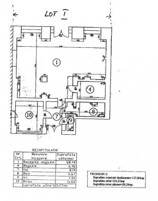Spatiu comercial de vanzare zona Bulevardul Decebal, Bucuresti 127.8 mp