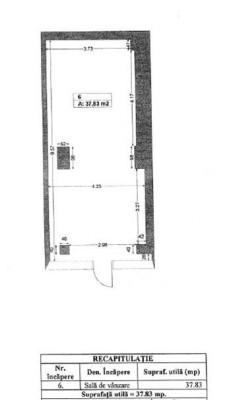 Spatiu comercial de vanzare zona Giurgiului, Bucuresti 37.83 mp