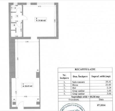 Spatiu comercial de vanzare zona Giurgiului, Bucuresti 64.16 mp