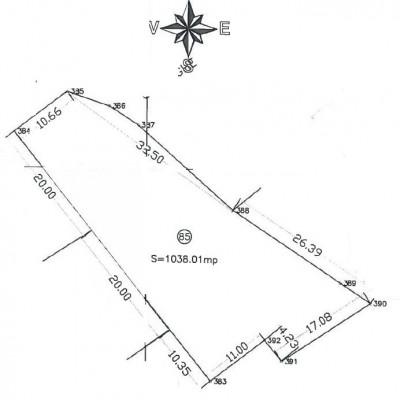 Land for sale Buftea area 1038 sqm