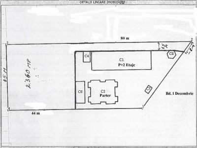 Land for sale Bulevardul 1 Decembrie 1918 area, Bucharest 2360 sqm
