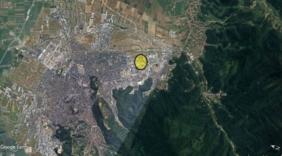 Land plot for sale commercial area Brasov, Brasov county 45.500 sqm