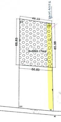 Land for sale Corbeanca area 3323 sqm