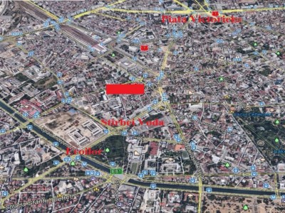 Land plot for sale Stirbei Voda area - Berzei, Bucharest 1,105 sqm