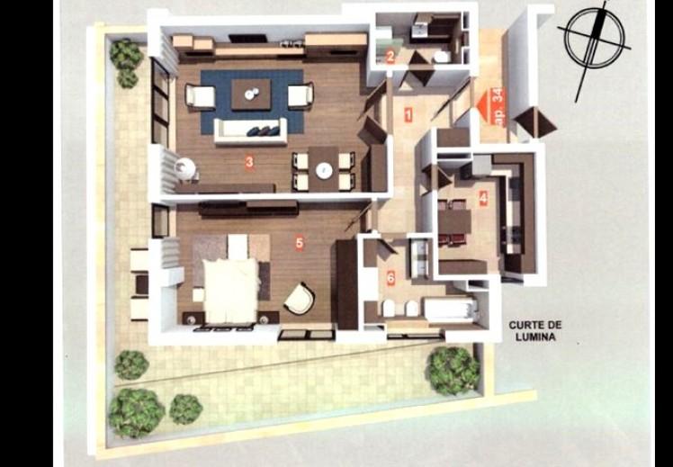 Apartament de vanzare 2 camere zona Victoriei 111 mp