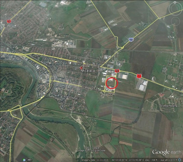 Teren de vanzare Arad - zona Micalaca Est, 30.500 mp