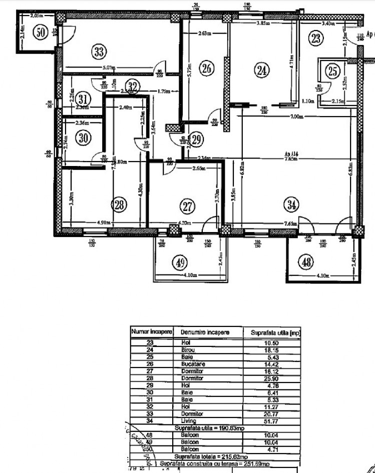 Apartament de inchiriat 5 camere zona Floreasca - Herastrau, Bucuresti 215.62 mp