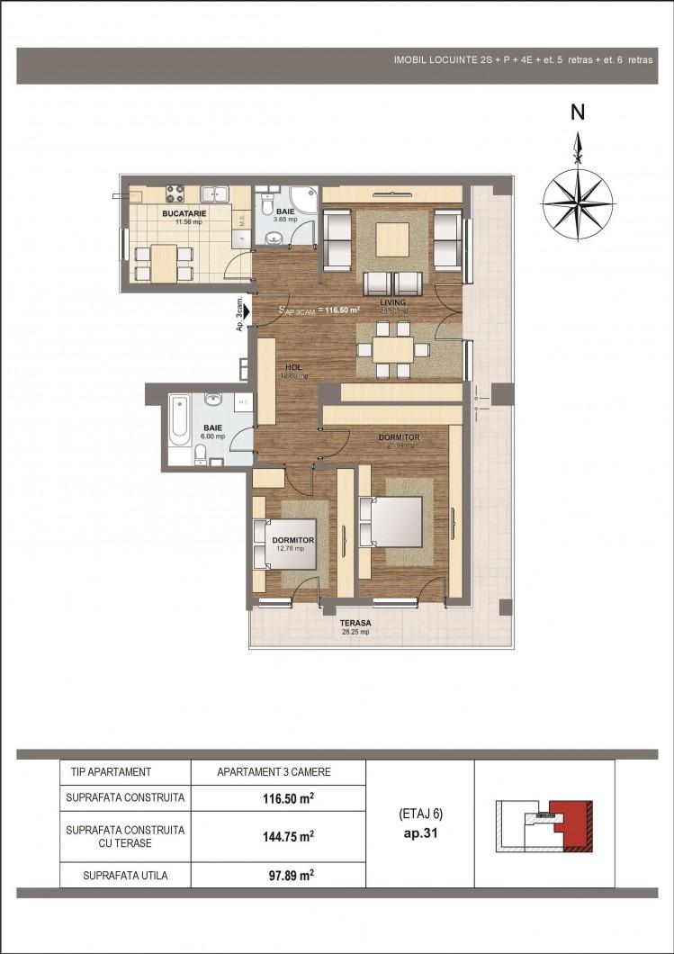 Apartament de vanzare 3 camere zona Aviatiei-Baneasa, Bucuresti 140 mp