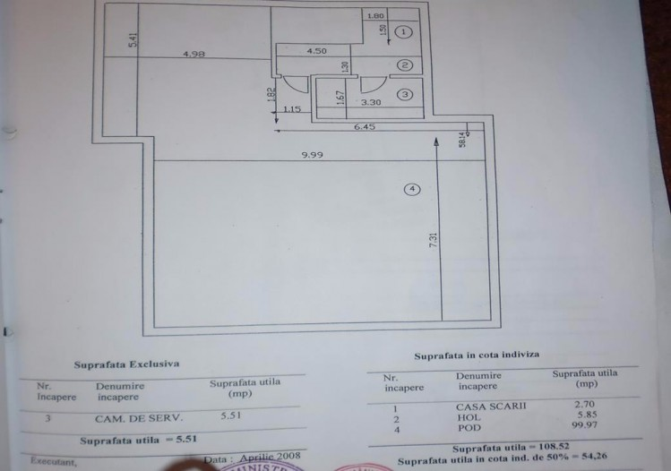 Apartament de vanzare 4 camere zona Dorobanti, Bucuresti 120 mp
