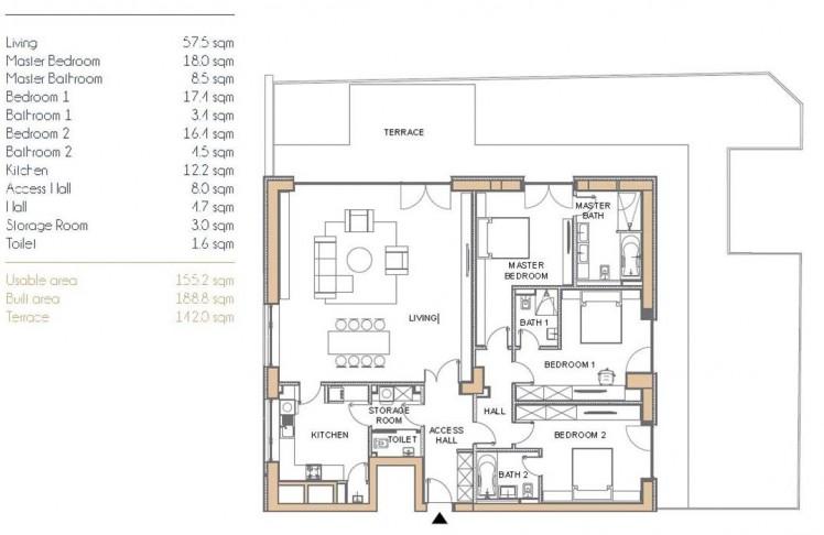 Apartament de vanzare 4 camere zona Primaverii, Bucuresti 189 mp