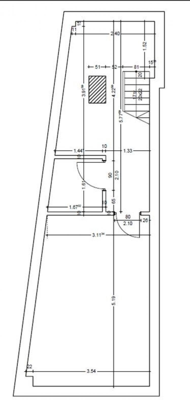 Spatiu comercial de inchiriat zona Calea Victoriei, Bucuresti 95.37 mp