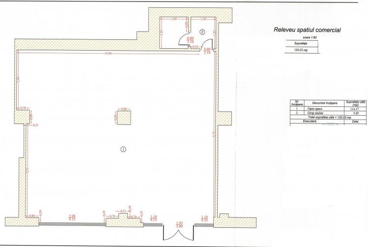 Spatiu comercial de vanzare zona de Nord -Soseaua Nordului, Bucuresti 120.02 mp