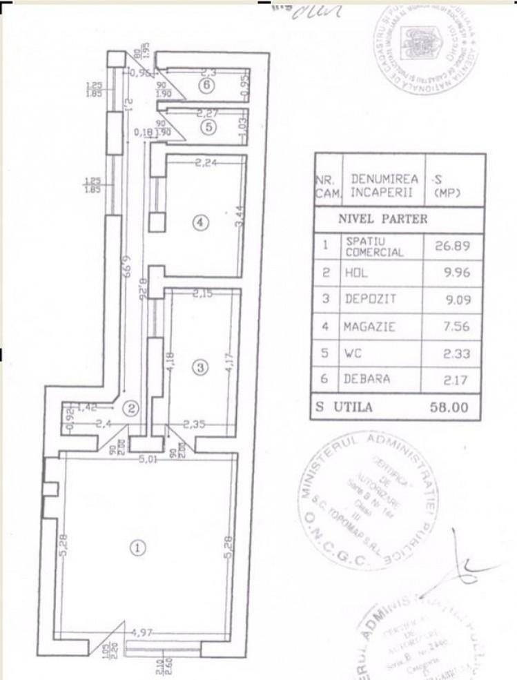 Spatiu comercial de vanzare zona Piata Amzei, Bucuresti 58 mp