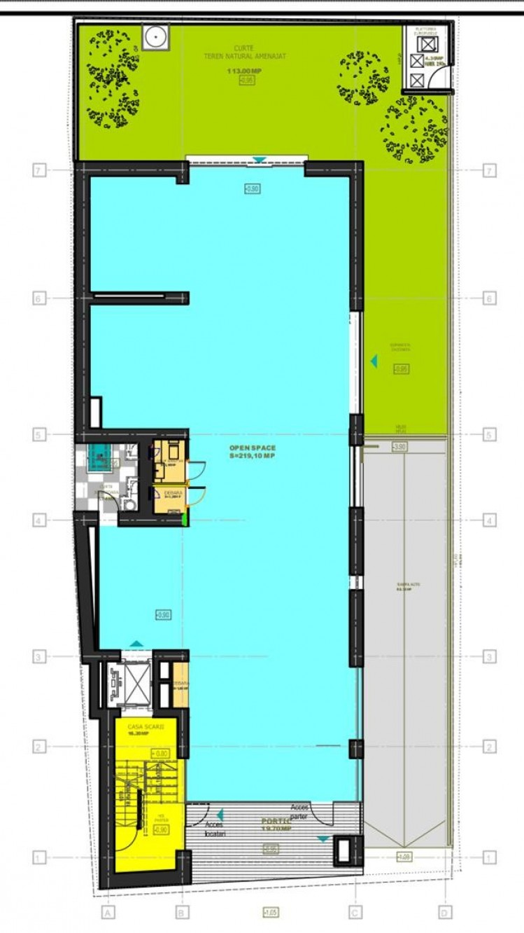 Commercial space for sale Romana Square area, Bucharest 224 sqm