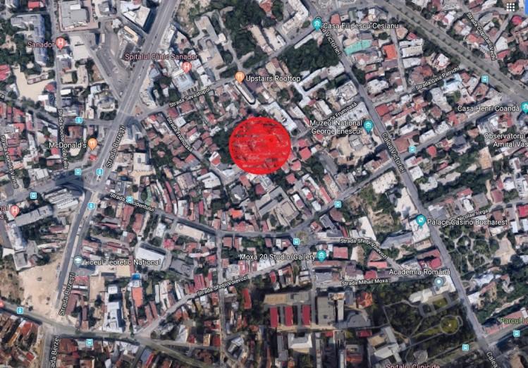 Teren de vanzare zona Calea Victoriei, Bucuresti 1.836 mp