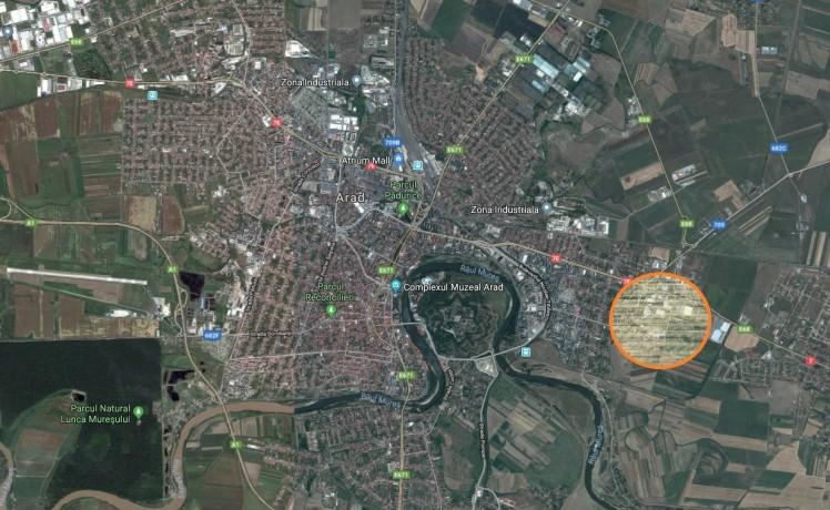 Land for sale, Arad - Micalaca East area, 20000 sqm