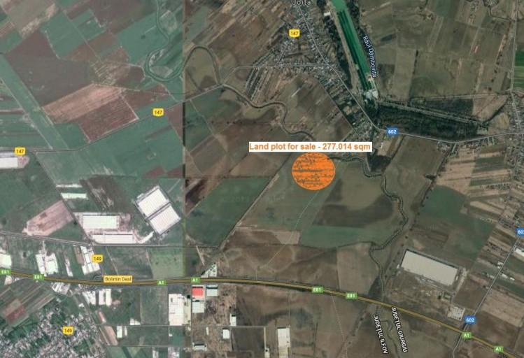 Teren de vanzare localizat in zona de Vest, Bucuresti 277.014 mp