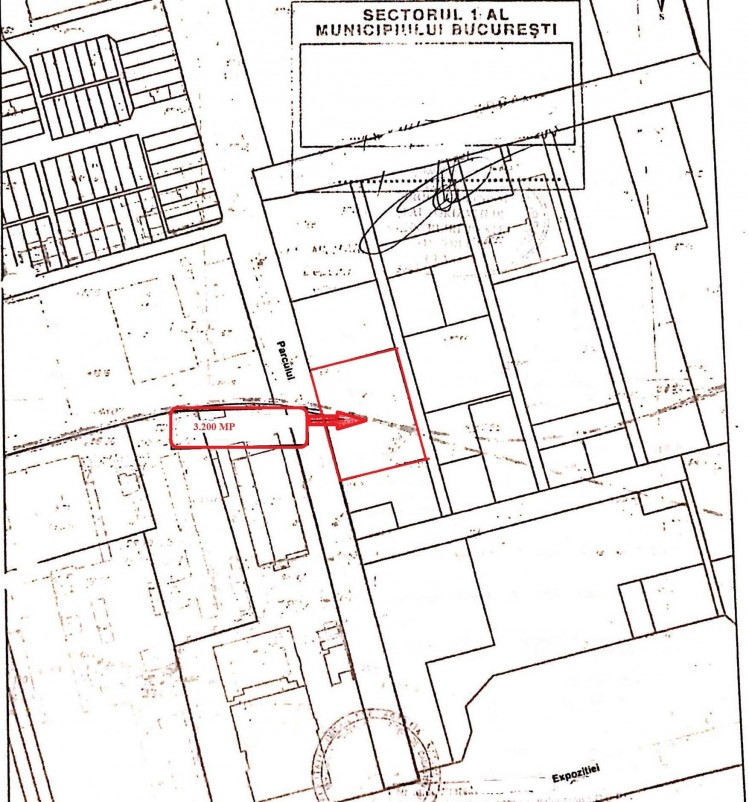Land plot for sale Expozitiei area, Bucharest 3.200 sqm