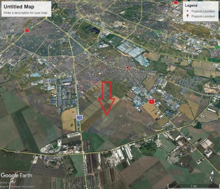 Land plot for sale Popesti Leordeni, Ilfov county 4.285 sqm