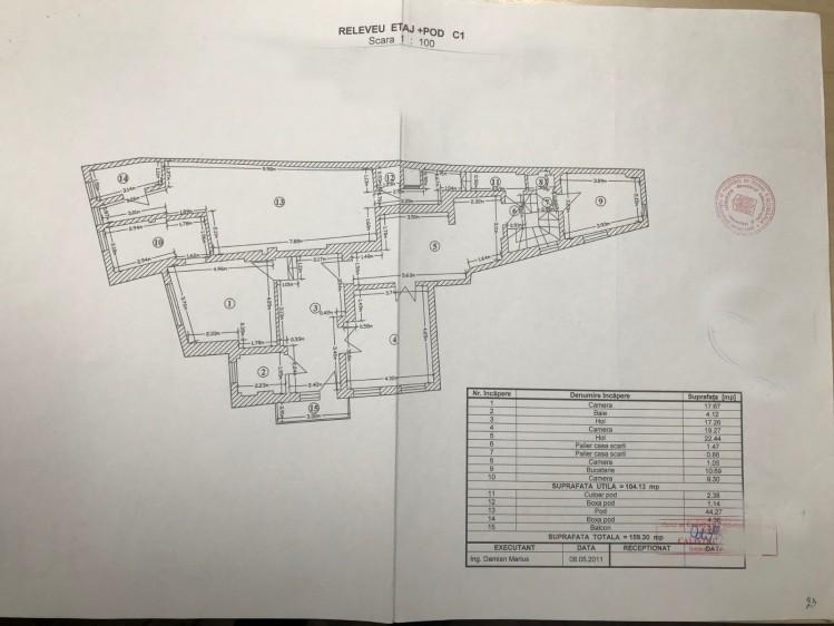 Vila de vanzare 12 camere zona centrala - Maria Rosetti, Bucuresti 550 mp