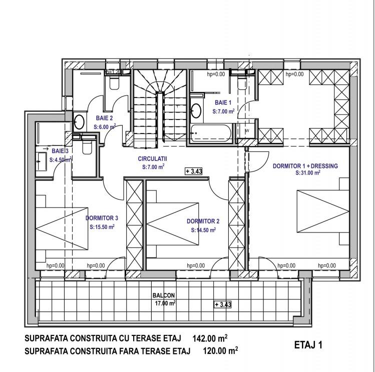 Vila de vanzare 4 camere zona Iancu Nicolae, Bucuresti 278 mp